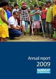 Annual report 2009 - Handicap International
