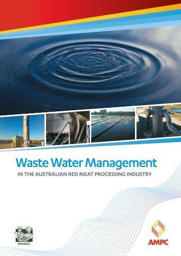 Waste Water Management - Australian Meat Processor Corporation