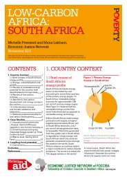 Low-carbon africa: South africa - Christian Aid