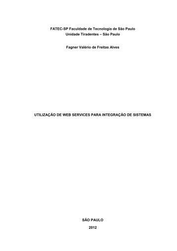 utilização de web services para integração de sistemas - Fatec