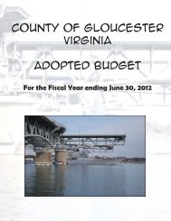 County of Gloucester Virginia Adopted Budget