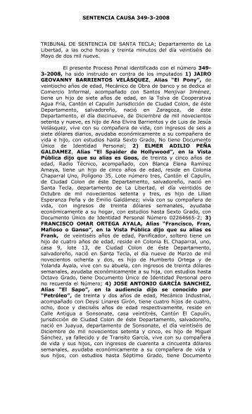 sentencia-causa-349 - Escuela de Capacitación Fiscal - Fiscalía ...