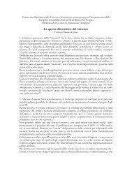 Relazione quarta dimensione - Centro Interdipartimentale di Ricerca ...