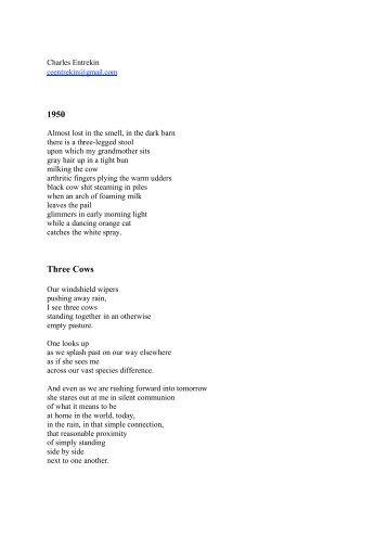 1950 Three Cows - Levure littéraire