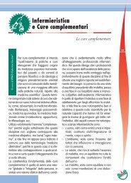 Infermieristica e Cure complementari - Ipasvi