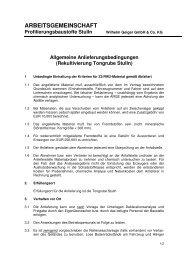ARGE Profilierungsbaustoffe Stulln - Geiger