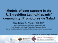 Promotores de Salud - Peers For Progress