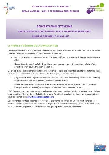 La participation - Les Espaces Info > Energie dans les Hautes-Alpes