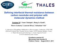Defining interfacial thermal resistance between carbon nanotube ...