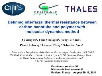 Defining interfacial thermal resistance between carbon nanotube ...