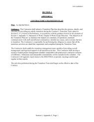 Section J, Appendix C, Page 1 SECTION J APPENDIX C ...