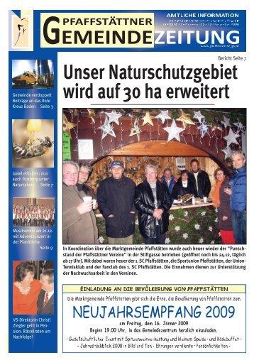Gemeindezeitung Dezember 2008 - Pfaffstätten