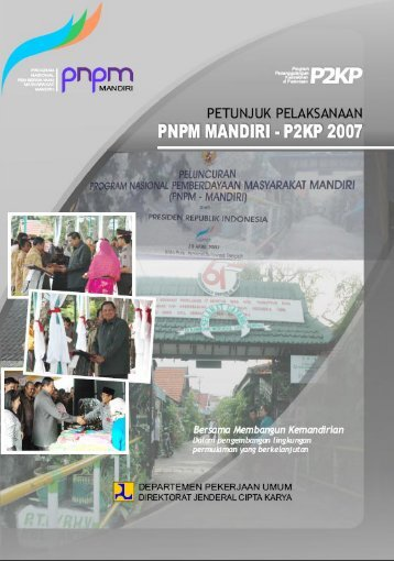 Petunjuk Pelaksanaan PNPM Mandiri - Badan Pemeriksa Keuangan