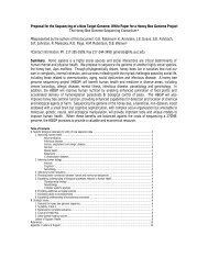 Proposal for the Sequencing of a New Target Genome: White Paper ...