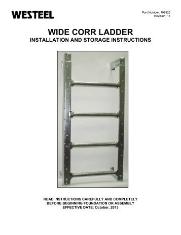 198925 WC Ladder INSTALLATION INSTRUCTIONS.pdf - Westeel