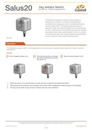 Salus20 Key Isolator Switch - Castell