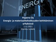 Paperra Oy Energia- ja materiaalitehokkuuden kehittäminen ...