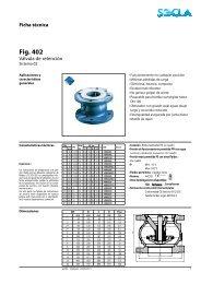 Ficha técnica Fig. 402 - SOCLA
