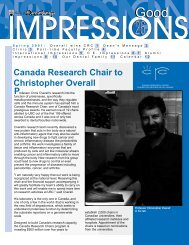 Spring (Issue 26) - UBC Dentistry