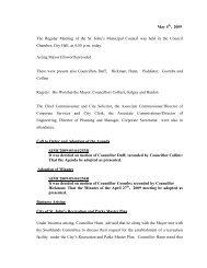 Council Minutes Monday, May 4, 2009 - City of St. John's