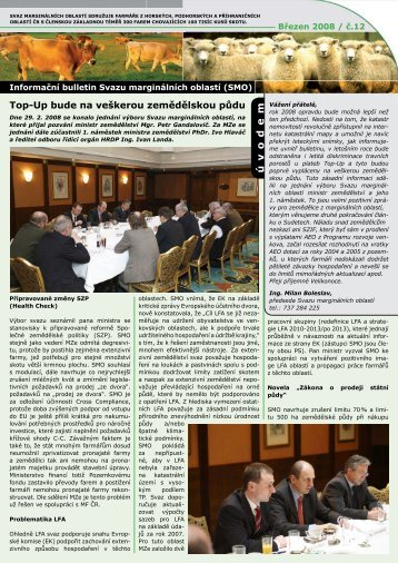 Informační bulletin SMO - březen 2008 - Svaz marginálních oblastí