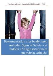 Dokumentation af arbejdet med metoden Signs of Safety - mitBUF.dk