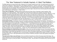 The New Testament Is Verbally Inspired—A Mark ... - Gospel Lessons