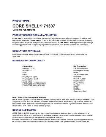CORE SHELL® 71307