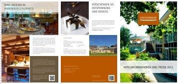 Preisliste - Steigenberger - Hotel der Sonnenhof