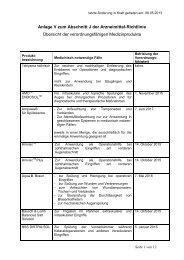 Anlage V zum Abschnitt J der Arzneimittel-Richtlinie - Werner Sellmer