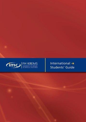 International Students' Guide - IMC Fachhochschule Krems GmbH