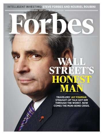 WALL STREET'S HONEST MAN - Travelers Insurance