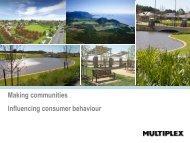 Making communities Influencing consumer behaviour - UDIA