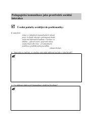 Pedagogická komunikace - Pf UJEP