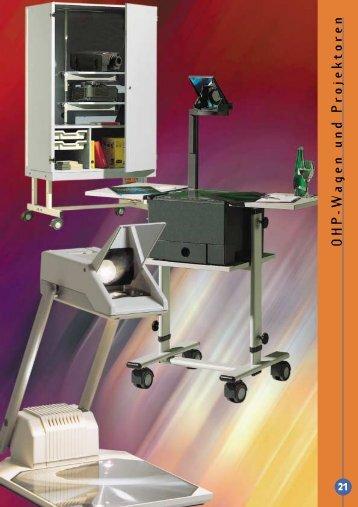 OHP-Wagen und Projektoren