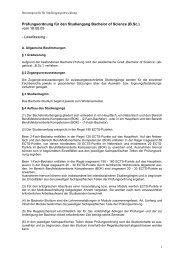 Prüfungsordnung für den Studiengang Bachelor of Science (B.Sc ...