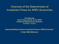 Enhancing investment flows in APEC - Introductory Presentation