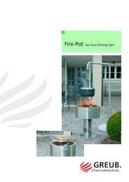 Fire-Pot das neue Grillvergnügen - Hans Greub AG