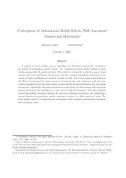 Convergence of Autonomous Mobile Robots With Inaccurate ...