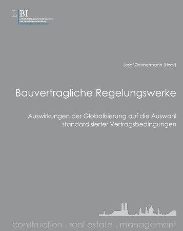 Bauvertragliche Regelungswerke - Lehrstuhl für ...