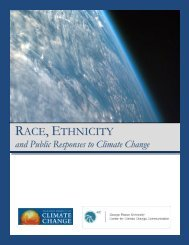 Race, Ethnicity and Public Responses to Climate Change