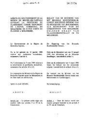 arrete du gouvernement de la region de bruxelles-capitale ouvrant ...