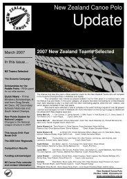 Quick News Oceania Campaign - New Zealand Canoe Polo