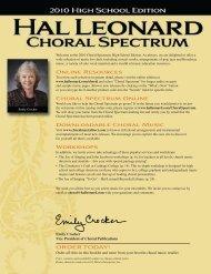 Online Resources Choral Spectrum Online ... - Hal Leonard