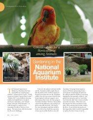 Horticulturalist among animals_gardening in the natonal aquarium ...