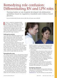 Remedying role confusion: Differentiating RN and LPN roles