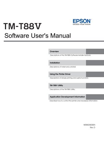 TM-T88V Software User Guide4.44 MB - Support