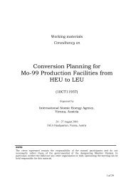 Conversion Planning for Mo-99 Production Facilities from HEU to LEU