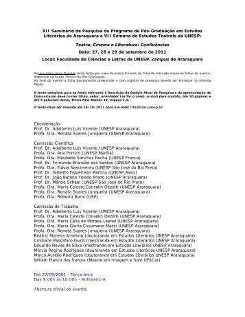 XII Seminário de Pesquisa do Programa de Pós-Graduação em ...