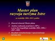 Master plan turizma Istre - realizacija 2009